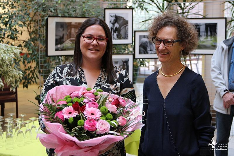 Dr Marie LOMBARD, gériatre aux « Vergers de La Chartreuse » et Lydie Gaillardin (aide-soignante aux Vergers de La Chartreuse
