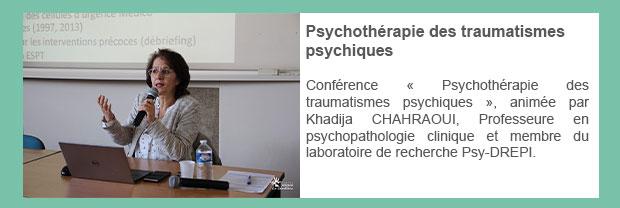 Psychothérapie des traumatismes psychiques