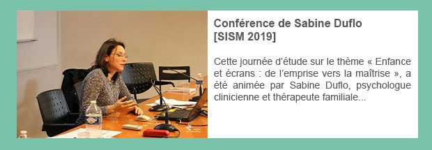 Conférence de Sabine Duflo [SISM 2019]