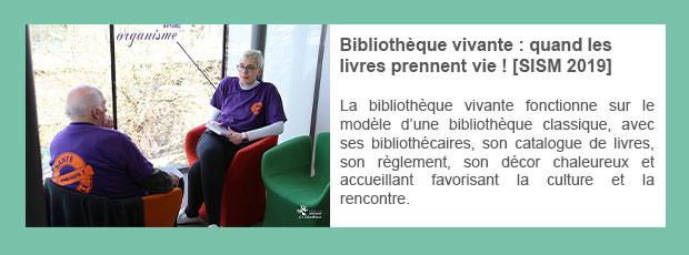 Bibliothèque vivante : quand les livres prennent vie ! [SISM 2019]