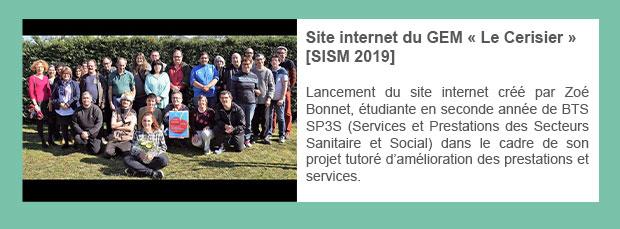 Site internet du GEM « Le Cerisier » [SISM 2019]