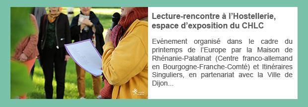 Lecture-rencontre à l'Hostellerie, espace d'exposition du CHLC