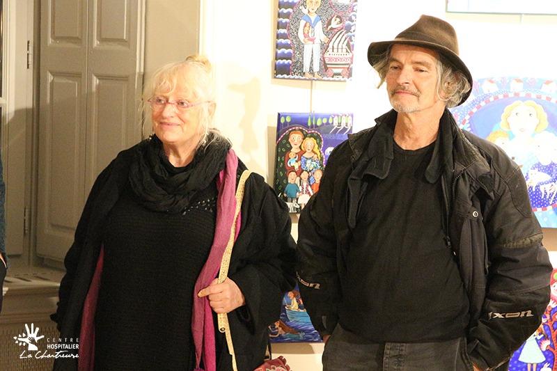 Dominique Eustase et Jacky Beaslay, les deux artistes.
