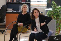 Delphine Zenou, déléguée Départementale de la Côte d'OR de l'ARS BFC et Amandine Clavel, chargée de mission Psychiatrie et Santé Mentale Filière psychiatrique du GHT 21-52 & Projet Territorial de Santé Mentale Côte d'Or