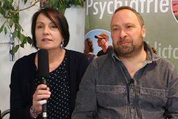 Corinne Billoué, psychologue clinicienne et Olivier Morin, infirmier