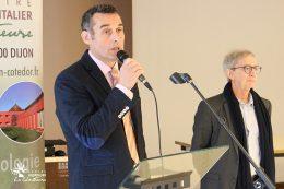 François MARTIN, directeur du CHLC Dijon et le Dr Gérard MILLERET, président de la CME du CHLC Dijon