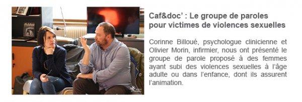 Caf&doc' : Le groupe de paroles pour victimes de violences sexuelles